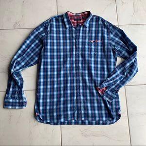 Ted baker blue plaid dress shirt button down